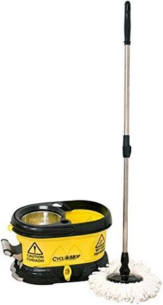 Commercial-Spinning-Spin-Wet-Dry-Mop-Adjustable-Handle-Cleaning-Microfiber-Head