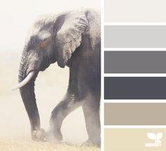 Mooie kleurencombinatie: elephant tones. Grijstinten met zandtinten.