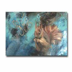 Kunstsamlingen   Artist: Lise Højer   Title: Egern   Height: 30cm,  Width: 40cm   Find it at kunstsamlingen.com #kunstsamlingen #kunst #artcollection #art #painting #maleri #galleri #gallery #onlinegallery #onlinegalleri #kunstner #artist #danishartists #lisehøjer