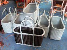 Синтетический материал .. (Нет ротанга) Baskets, Organization, Bags, Home Decor, Journaling, Getting Organized, Handbags, Organisation, Hampers