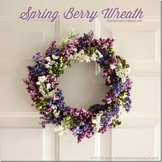 Berry Spring Wreath!  Made from dollar store supplies!  #wreaths #spring