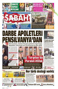 Gazete Manşetleri Sabah Gazetesi 24.09.2014 TARİHLİ GAZETE