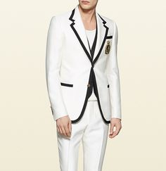 Gucci | heritage wool silk evening jacket and will silk flare evening pant | cool and collected!