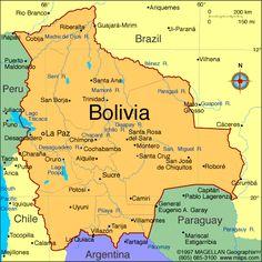 Bolivia es en el centro de sudamerica. El capital de Bolivia es Sucre. La moneda de Bolivia es el Bolivian Boliviano. El gobierno es un presidencial república. El presidente de Bolivia es Evo Morales. Bolivia tiene un población de 10.67 millón. El tiempo es húmedo, tropical, y frio en el invierno.
