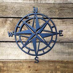 Nautical Compass Rose Metal Wall Art- Various Sizes – HouseSensationsArt