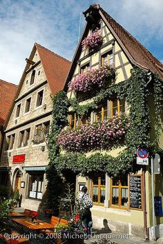 Germany Travel Inspiration - Rothenburg, walled medieval town in the middle of Germany makes for an excellent overnight stop while on the Romantic Road Bike Route.