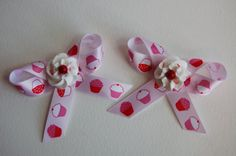 Set of 2 Cupcake and Icing Hairclips Design 2 by stayhomecupcake, $8.00