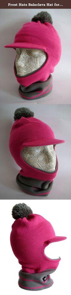5f1a14e44b0 Frost Hats Balaclava Hat for Girls Warm Winter Ski Mask M2013-182G (Pink