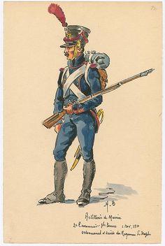 Naples; Marine Artillery, 2nd Class Gunner, Grande Tenue, 1810