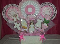 Centro galletas primera comunión para niña