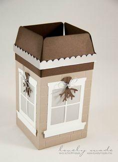 Leuchthäuschen mit dem Gift-Box-Punchboard