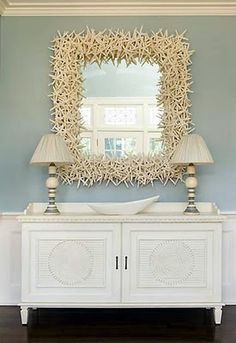 Seashell Mirror Beach Decor