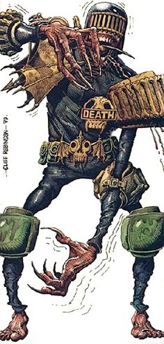 Judge Death - 2000AD comics - Judge Dredd enemy - Dark Judge
