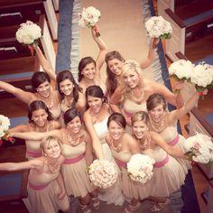 "Dahl bridesmaids in nude silk & chiffon ""Louisa"" frocks... http://MagnoliaStudios.zenfolio.com/kandb/e6fa89b29"