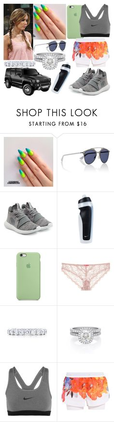 """Vendredi 26 Août 2016 Matin (10H-12H)"" by laurie-2109 ❤ liked on Polyvore featuring LIZZY, Christian Dior, adidas Originals, NIKE, STELLA McCARTNEY, Tiffany & Co., De Beers and adidas"