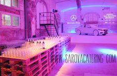 Cocktail en la presentación del nuevo Mercedes Clase C y GLA en el nuevo espacio del Hospital de Sant Pau by Sarova Catering