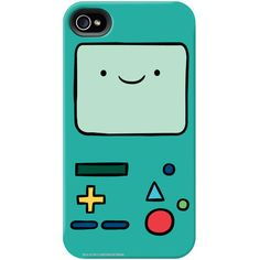 """Adventure Time """"Beemo Face"""" Phone Case for iPhone and Galaxy ($31) ❤ liked on Polyvore featuring accessories, tech accessories, phone cases, phones, cases, iphone cases, comic book, cartoon iphone case, apple iphone cases and iphone cover case"""