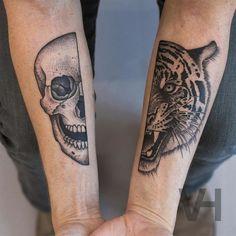Symmetrical Inspired Tattoos By Valentin Hirsch
