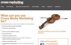 Not a great looking website design but good media content. http://www.cross-media-marketing.co.uk/index.html