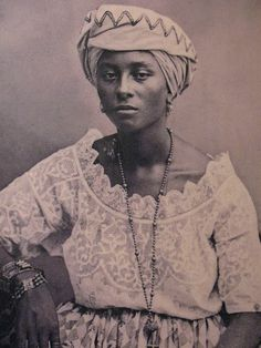 "African slave in Brazil also labeled as ""Girl from Salvador"", 1869."