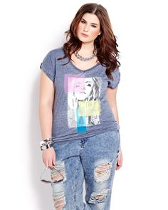 6cb9a9ec8f7 Here is a fun T-shirt to wear with jeans or a skirt and boots. Short  sleeve