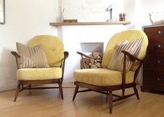 Pair of Ercol Windsor Armchairs