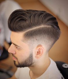 The mid-fade can offer you the perfect combination of high fade and low fade. The style is a remarkable conical cut to land just above the . Short Mens Hairstyles Fade, Medium Fade Haircut, Blond Hairstyles, Side Part Hairstyles, Haircuts For Men, Smart Hairstyles, Pompadour Hairstyle, Thick Hair Styles Medium, Faded Hair