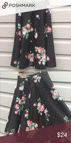 Vintage handmade skirt Handmade floral full circle skirt Handmade Skirts Circle & Skater