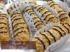 cigares de gaufrettes aux qtayefs Bonjour tout le monde, Voila un super délicieux gâteaux sans cuisson ( la seule cuisson est celle de faire grillé les qtayefs pour qu'elles soient bien croustillantes) Une recette que partage avec nous mon amie Oum Thaziri, c'est a base de gaufrettes roulés fourrées au Nutella, enroulé dans une couche ...