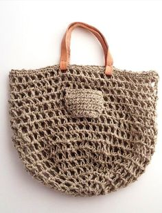 Open crochet..  will need to line bag.