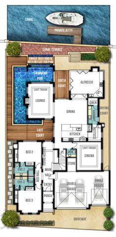 Two Storey Canal Home Designs Floor Plans