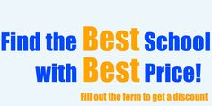 Discount! Find the Best school with Best price!