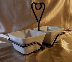 SIMPLE ADDITIONS by THE PAMPERED CHEF 2 PC SERVING BOWL SET - Wrought Iron Frame #PamperedChef $23.99