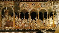 Matteo di Giovanni (disegno) Francesco di Niccolaio e Nanni di Piero di Nanni (realizzazione), Strage degli innocenti. Pavimento del duomo, Siena, 1481-1482.  L'apoteosi della tarsia marmorea.