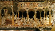 Slaughter of the Innocents by Matteo di Giovanni, incredible mosaic floor of the Siena Duomo in Italy