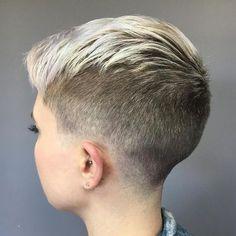 Short Pixie Haircuts, Pixie Hairstyles, Short Hair Cuts, Cool Hairstyles, Wedge Hairstyles, Shaved Hairstyles, Men's Hairstyle, Medium Hairstyles, Edgy Pixie Cuts