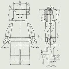 These are some giant Lego men that I have made. They have all the movements, clips and operations that a standard Lego man has. Lego Design, Lego Man Costumes, Lego Costume, Batman Costumes, Orthographic Drawing, Orthographic Projection, Patent Drawing, Cad Drawing, Drawing Tips