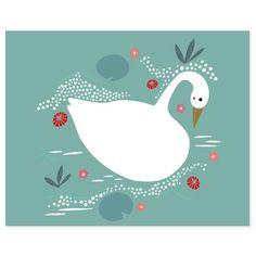 Enchanted Swan Art Print by Gingiber