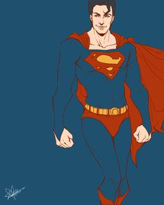 .superman - the big blue by ~iamacoyfish on deviantART