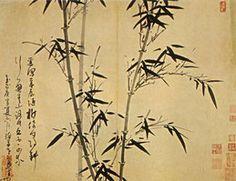 Bambú de Verano. Hoja del Álbum: El Bambú en las Cuatro Estaciones, de Wu Zhen (1280-1354).