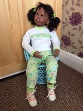 Large Toddler Doll by Ashton Drake   Tasha   Julie Fischer   Black/Afro/Ethnic