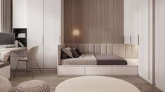 Design project of the apartment Moscow Design project of the apartment Design project of the apartment Moscow Design project of the apartment Moscow on Behan Modern Home Interior Design, Home Room Design, Kids Room Design, Bed Design, Single Bedroom, Small Room Bedroom, Baby Room Decor, Bedroom Decor, Small Apartment Interior