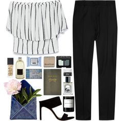 find it by mariimontero on Polyvore featuring Zara, J.W. Anderson, Stuart Weitzman, NARS Cosmetics, Diptyque, Korres, Sloane Stationery, Culti and Byredo