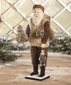 Vintage Pinecone Santa from The Holiday Barn