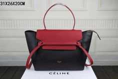 Celine Mini Belt Bag in Black Red Smooth Calfskin - $299.99 http://www.lhbon.com/celine-mini-belt-bag-in-black-red-smooth-calfskin-p-362.html