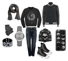 """gray story - 6"" by shadow-168 ❤ liked on Polyvore featuring Golden Goose, Casetify, Nirvanna Designs, Polo Ralph Lauren, Burberry, Moschino and Converse"
