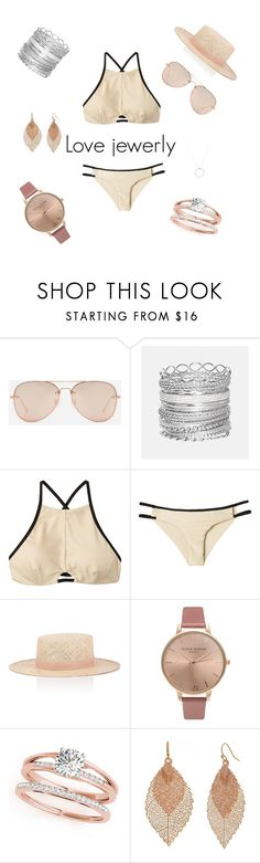 """""""Sans titre #79"""" by elie1444444 on Polyvore featuring mode, CHARLES & KEITH, Avenue, RVCA, Janessa Leone, Olivia Burton, Bold Elements et Roberto Coin"""