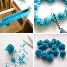 Multiple yarn pom-poms