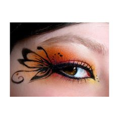 Amazing Butterfly Eye Makeup Eye Makeup Design ❤ liked on Polyvore featuring beauty products, makeup, eye makeup and eyes