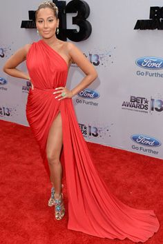 Best-dressed celebs at the 2013 BET Awards- Adrienne Bailon
